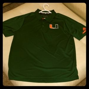 Adidas coaches polo Miami Hurricanes